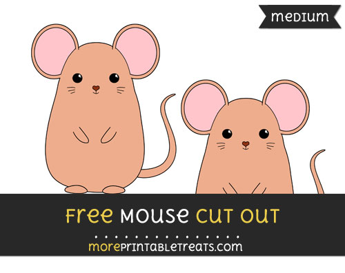 Free Mouse Cut Out - Medium Size Printable