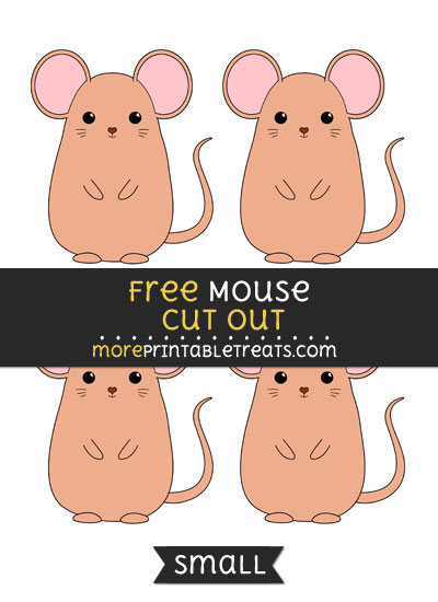 Free Mouse Cut Out - Small Size Printable