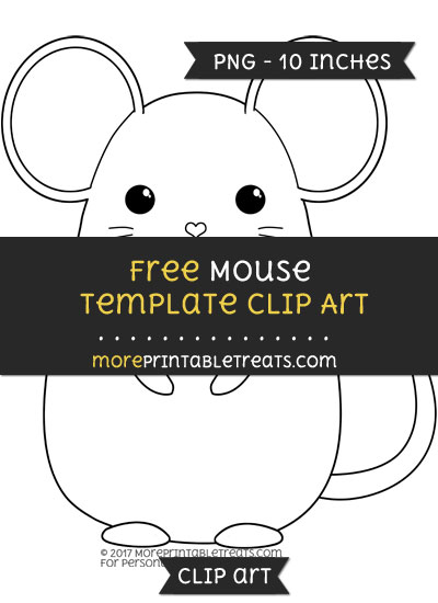 Free Mouse Template - Clipart