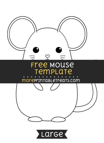 Free Mouse Template - Large