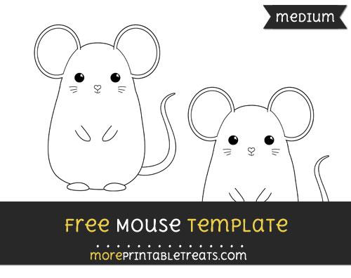 Free Mouse Template - Medium