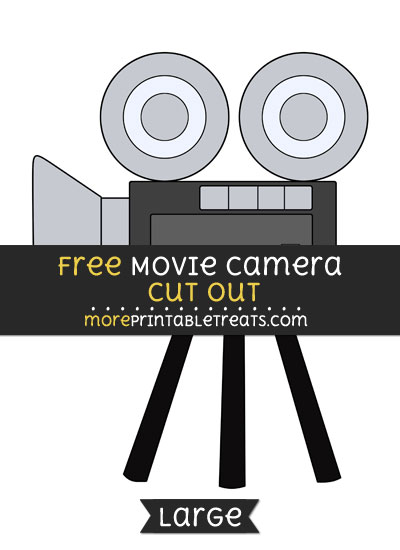 Free Movie Camera Cut Out - Large size printable