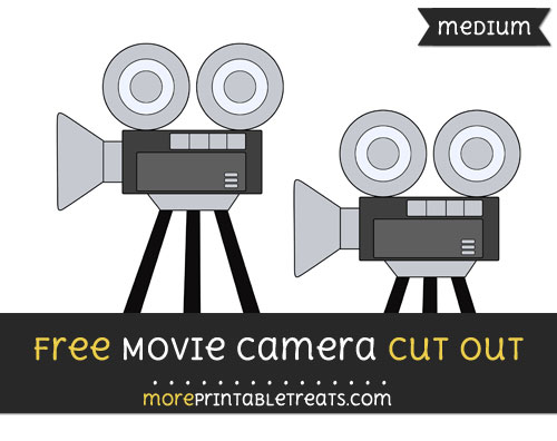 Free Movie Camera Cut Out - Medium Size Printable