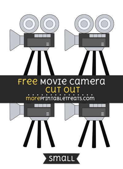 Free Movie Camera Cut Out - Small Size Printable