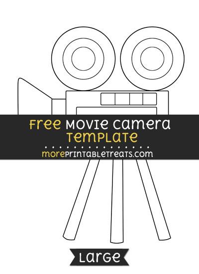 Free Movie Camera Template - Large