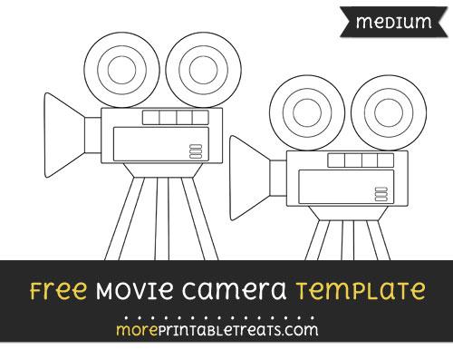 Free Movie Camera Template - Medium