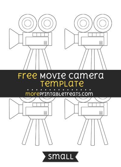 Free Movie Camera Template - Small