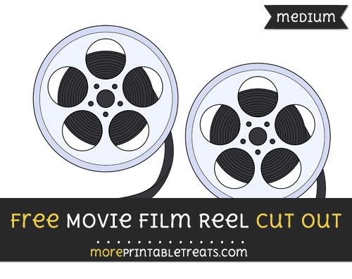 Free Movie Film Reel Cut Out - Medium Size Printable