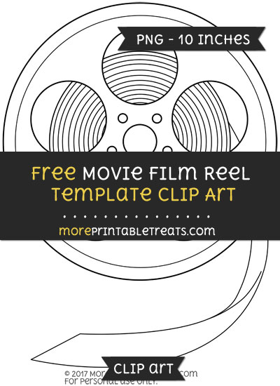 Free Movie Film Reel Template - Clipart