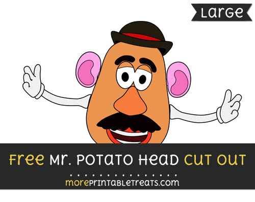 Free Mr Potato Head Cut Out - Large size printable