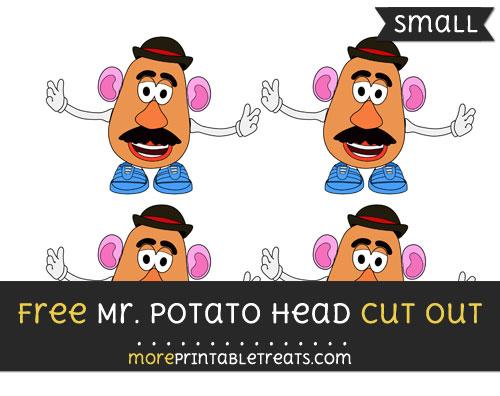 Free Mr Potato Head Cut Out - Small Size Printable