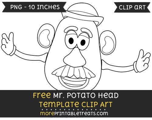 Free Mr Potato Head Template - Clipart
