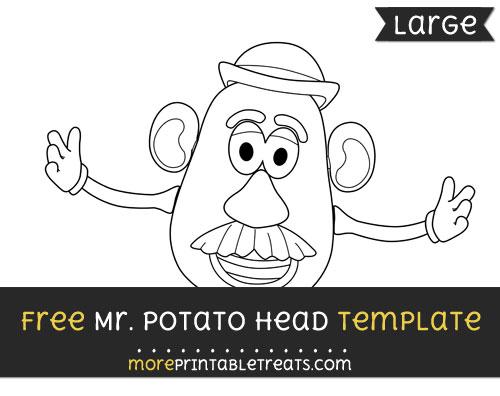 Free Mr Potato Head Template - Large