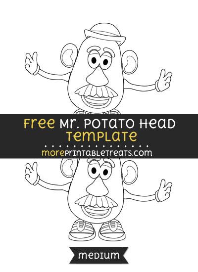 Free Mr Potato Head Template - Medium