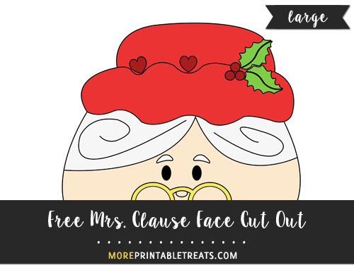 Free Mrs. Clause Face Cut Out - Large