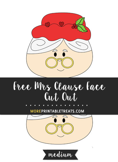 Free Mrs. Clause Face Cut Out - Medium