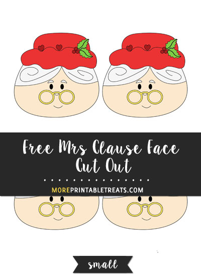 Free Mrs. Clause Face Cut Out - Small