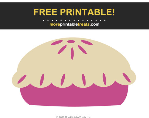 Free Printable Mulberry Purple Pie Cut Out