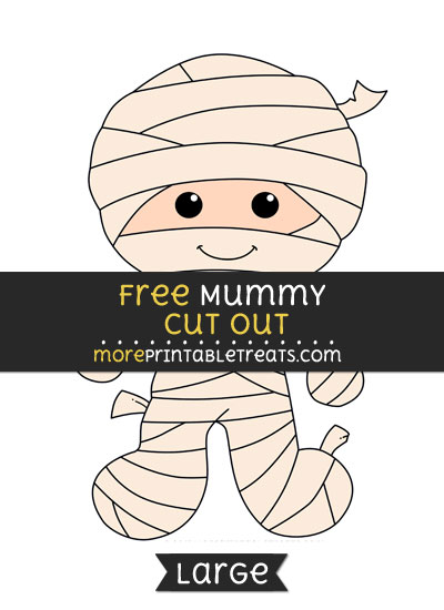 Free Mummy Cut Out - Large size printable