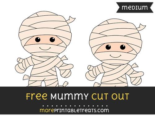 Free Mummy Cut Out - Medium Size Printable