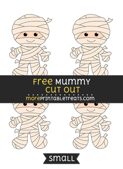 Free Mummy Cut Out - Small Size Printable
