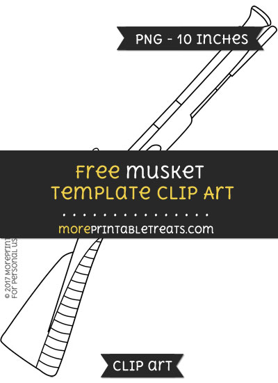 Free Musket Template - Clipart