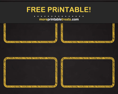 Free Printable Mustard Yellow Chalk Border Rectangle Labels