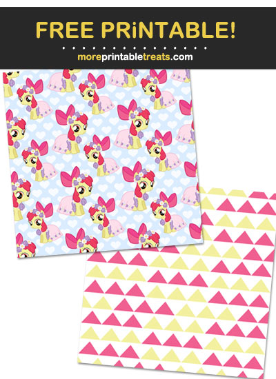 Free Printable My Little Pony Characters Pattern Paper