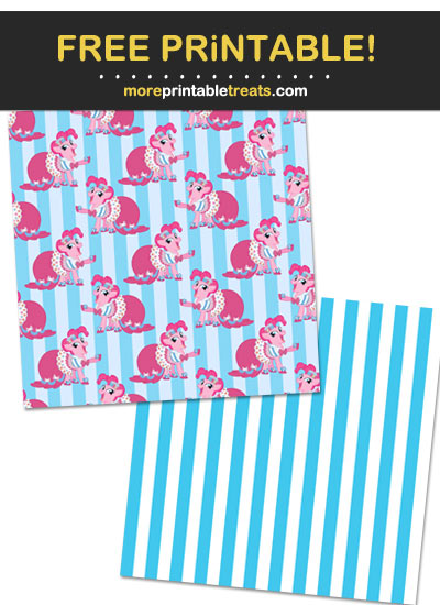 Free Printable My Little Pony Characters Scrapbook Papers