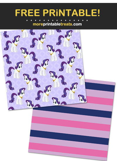 Free Printable My Little Pony Scrapbook Papers
