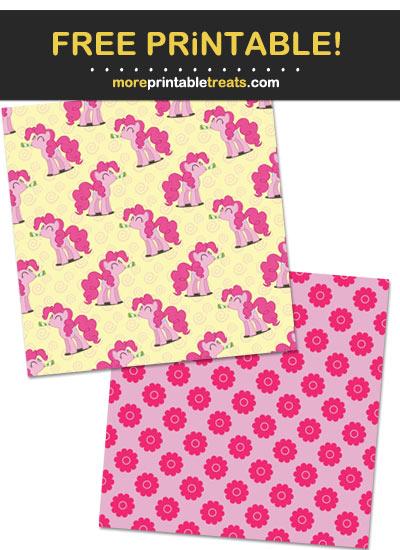 Free Printable My Little Pony Theme Paper