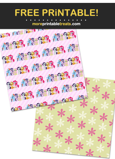 Free Printable My Little Pony Wrapping Paper