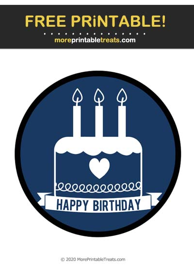 Free Printable Navy Blue Birthday Icon Cut Out