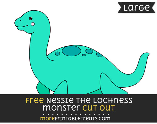 Free Nessie The Lochness Monster Cut Out - Large size printable