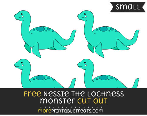 Free Nessie The Lochness Monster Cut Out - Small Size Printable