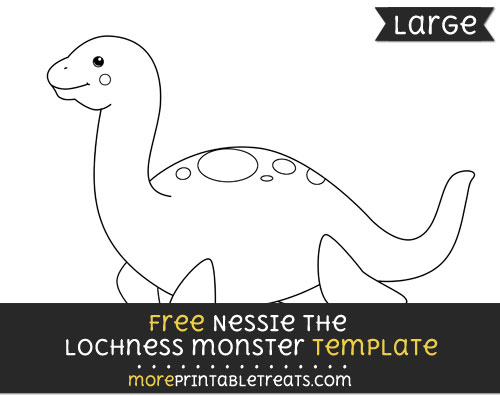 Free Nessie The Lochness Monster Template - Large