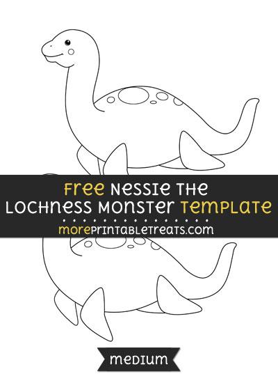 Free Nessie The Lochness Monster Template - Medium