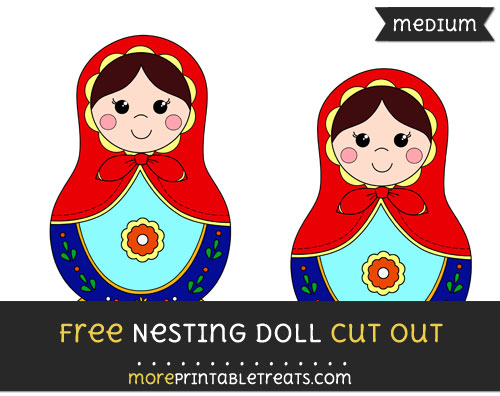 Free Nesting Doll Cut Out - Medium Size Printable