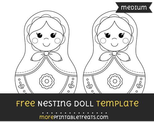 Free Nesting Doll Template - Medium