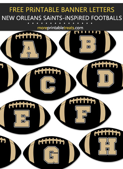 Free Printable New Orleans Saints-Inspired Football Alphabet