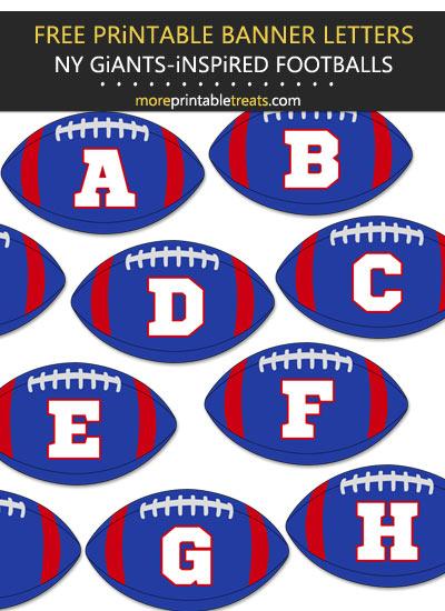 Free Printable New York Giants-Inspired Football Alphabet