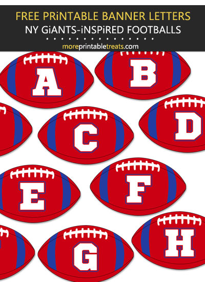 Free Printable New York Giants-Inspired Football Bunting Banner