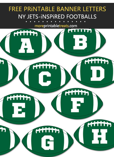 Free Printable New York Jets-Inspired Football Alphabet