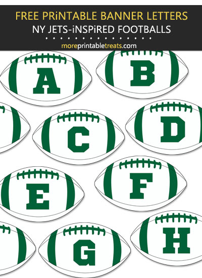Free Printable New York Jets-Inspired Football Bunting Banner