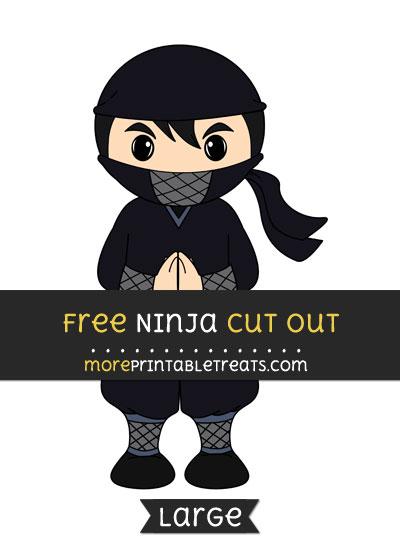 Free Ninja Cut Out - Large size printable