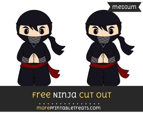 Free Ninja Cut Out - Medium Size Printable