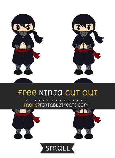 Free Ninja Cut Out - Small Size Printable