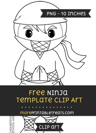 Free Ninja Template - Clipart