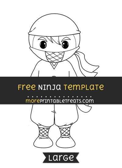 Free Ninja Template - Large