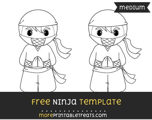 Free Ninja Template - Medium